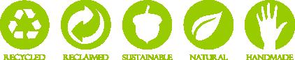RecycledRenewableSustainableNaturalHandmade