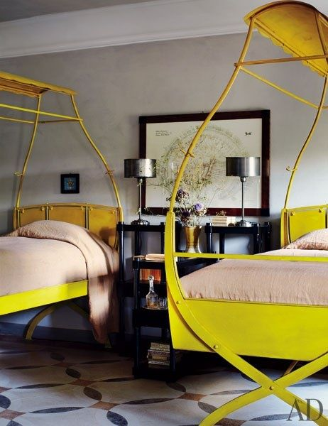 First of all these beds are amazing and I love the pop of color.