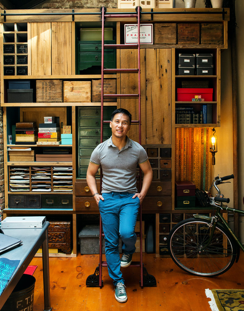 Custom wall to house Mr. Wongs drawer collection