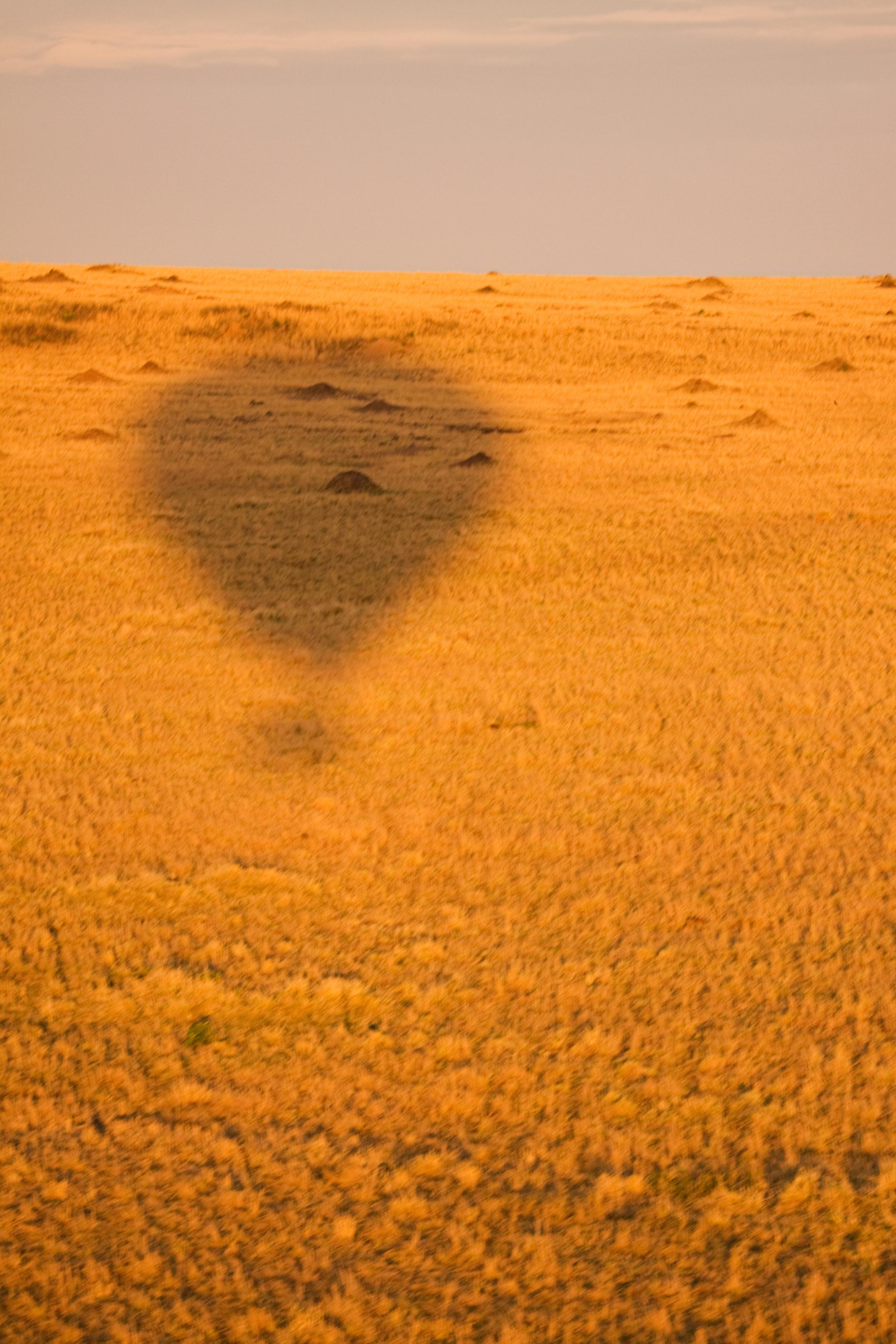 Silhouette of Hot Air Ballon over the Masai Mara