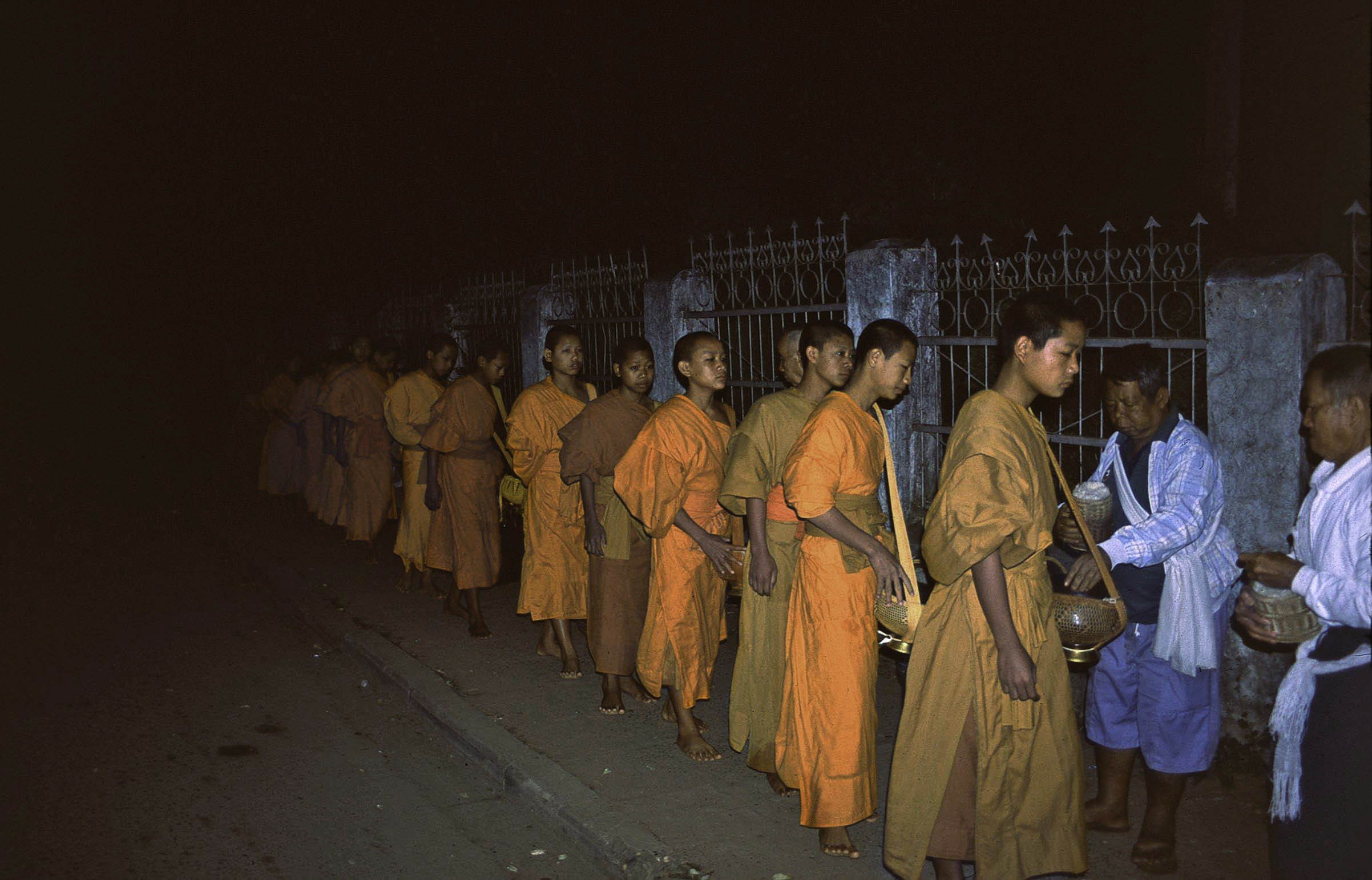 Monks Receiving Alms, Luang Prabang