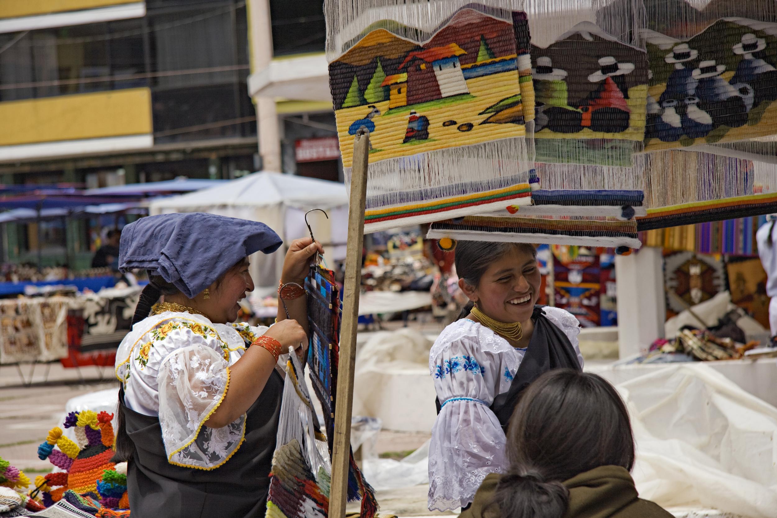 Otavalo Market, vendors