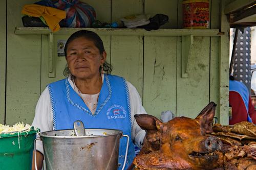 Otavalo Market, Pig's Head