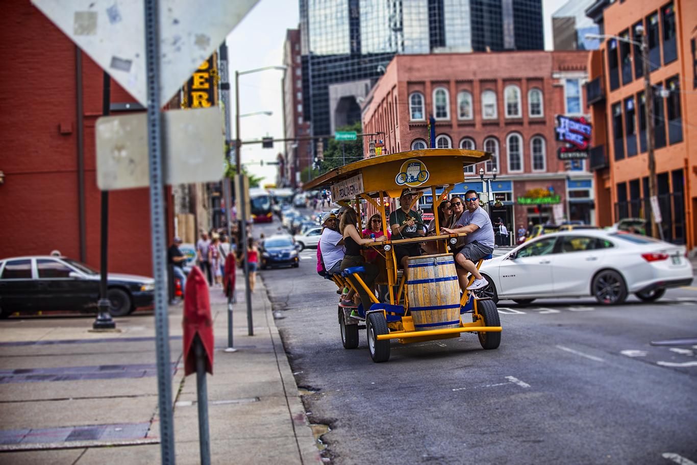 Mobile bar on Broadway