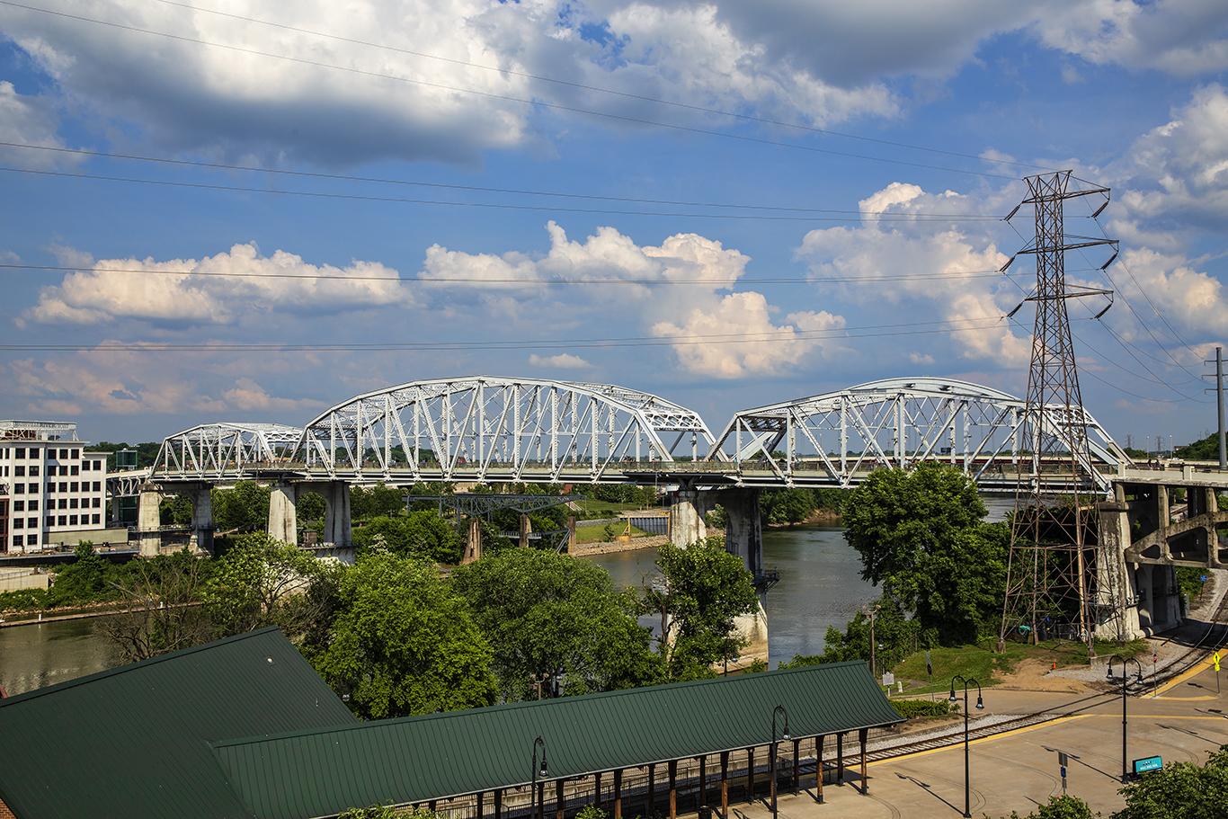 The John Seigenthaler Bridge over the Cumberland River
