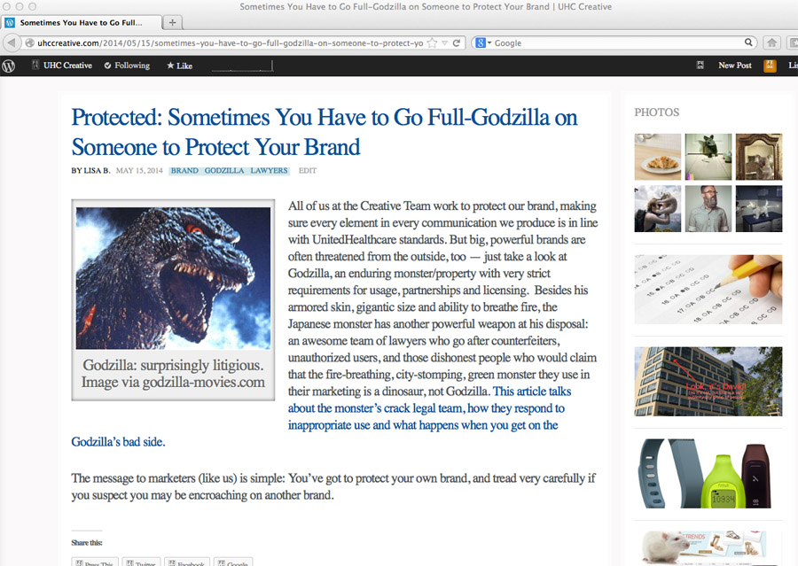 Sometimes You Have to Go Godzilla…