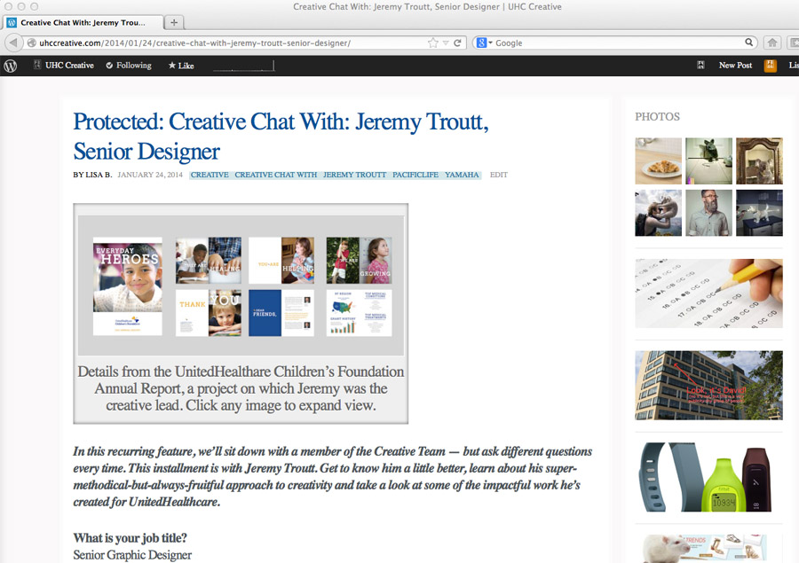 Jeremy Troutt Interview