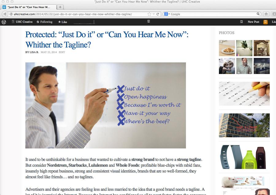 Tagline article
