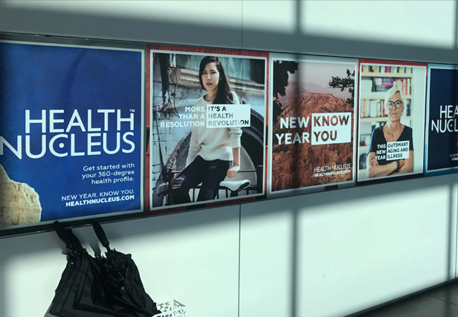 Signage at West Coast airports, and