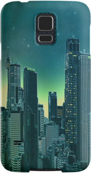 """Night city [turquoise]"" Samsung case"