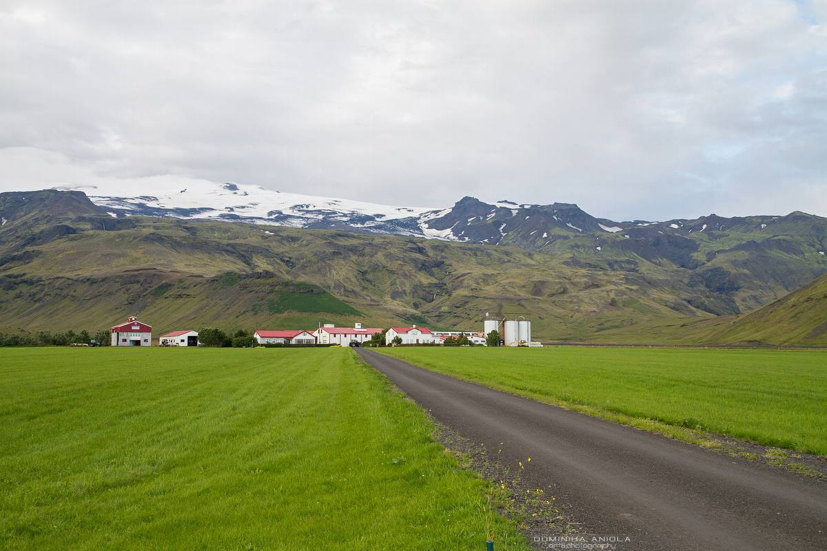 One of Icelandic farms. Not so far behind there is famous Eyjafjallajokull which erupted in 2010, causing a lot of problems.