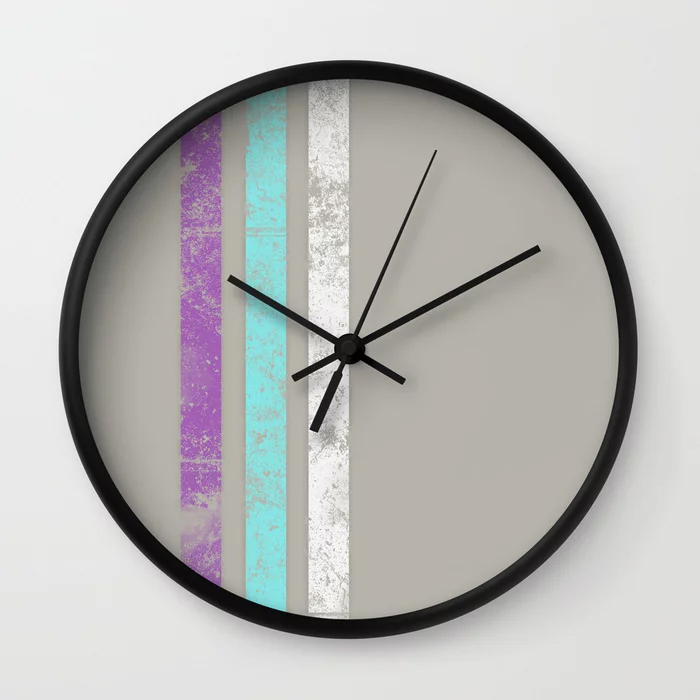 """""""  Stripes Colours  """" Wall Clock on S6"""