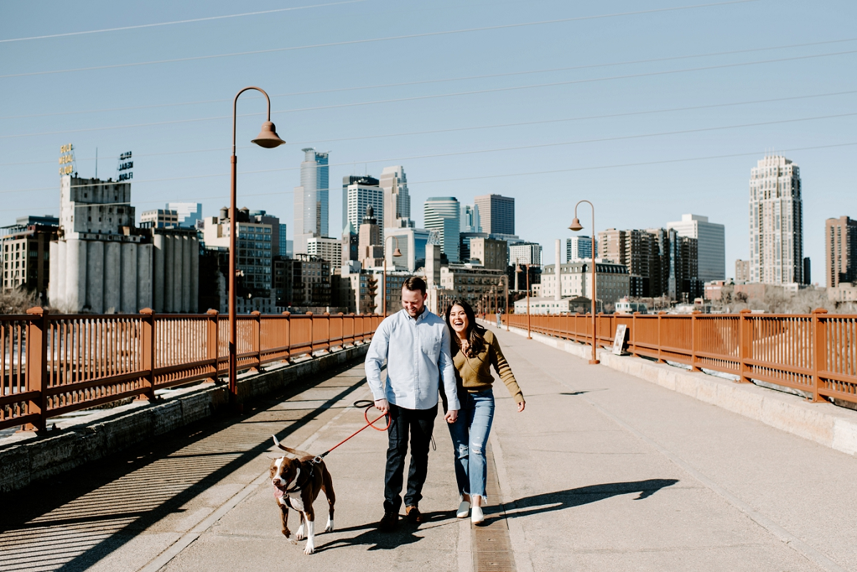 PHILLIP + ILYSSA - MINNEAPOLIS STONE ARCH BRIDGE ENGAGEMENT