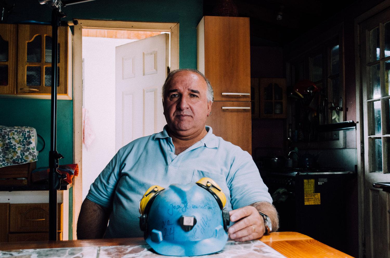 From Chile,José Gonzalez was trapped underground for 67 days in the Copiapo mine collapse of 2010. Picture by Ignacio Murua.
