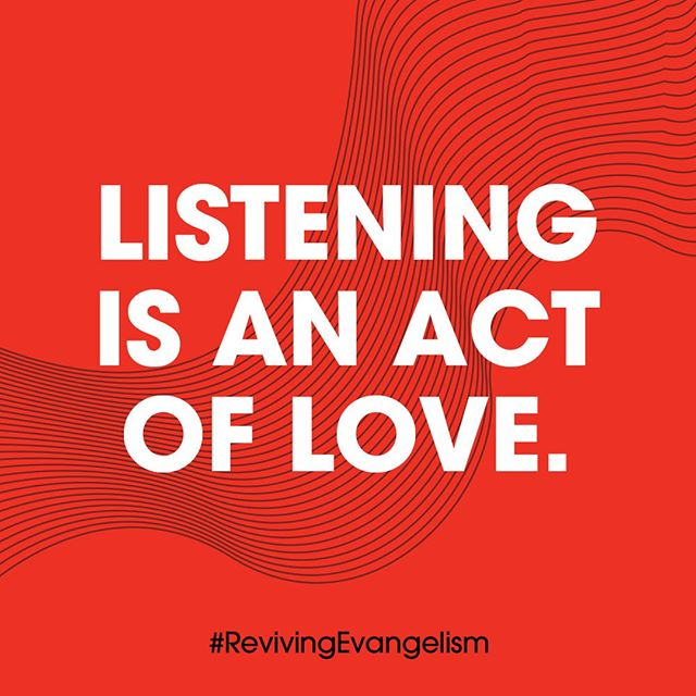 Listening is an act of love. Sharing faith is a gift offered from a place of humility and generosity. -Michelle Jones, Imago Dei Community Church, Portland . . . #Listening #Love #RevivingEvangelism