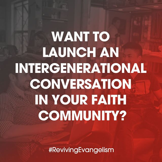 To launch an intergenerational conversation in your faith community, start with the following questions: How will we ensure that we are faithful links in the chain of gospel belief that stretches all the way back to the disciples? How can we be strategic, faithful, culturally savvy and effective? What does a responsible, contemporary evangelistic model look like? Read more in #RevivingEvangelism: #LinkInBio