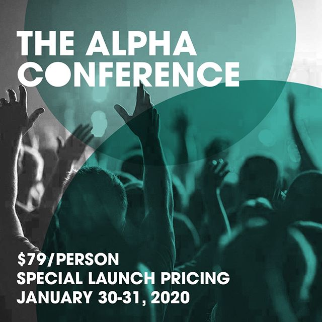 Register for #TheAlphaConference 2020 by midnight tonight and save $40 per ticket with our special launch rate. Save even more when you register a team of 10+. alphausa.org/tac20 . . . #Evangelism #RunAlpha #ChristianConference #Prayer #ComeHolySpirit #TAC20