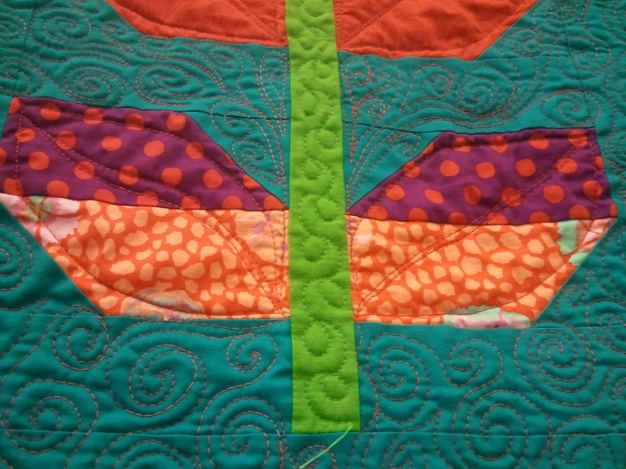 Detail of Leaves Quilt. Alicia Ashman Library Gallery