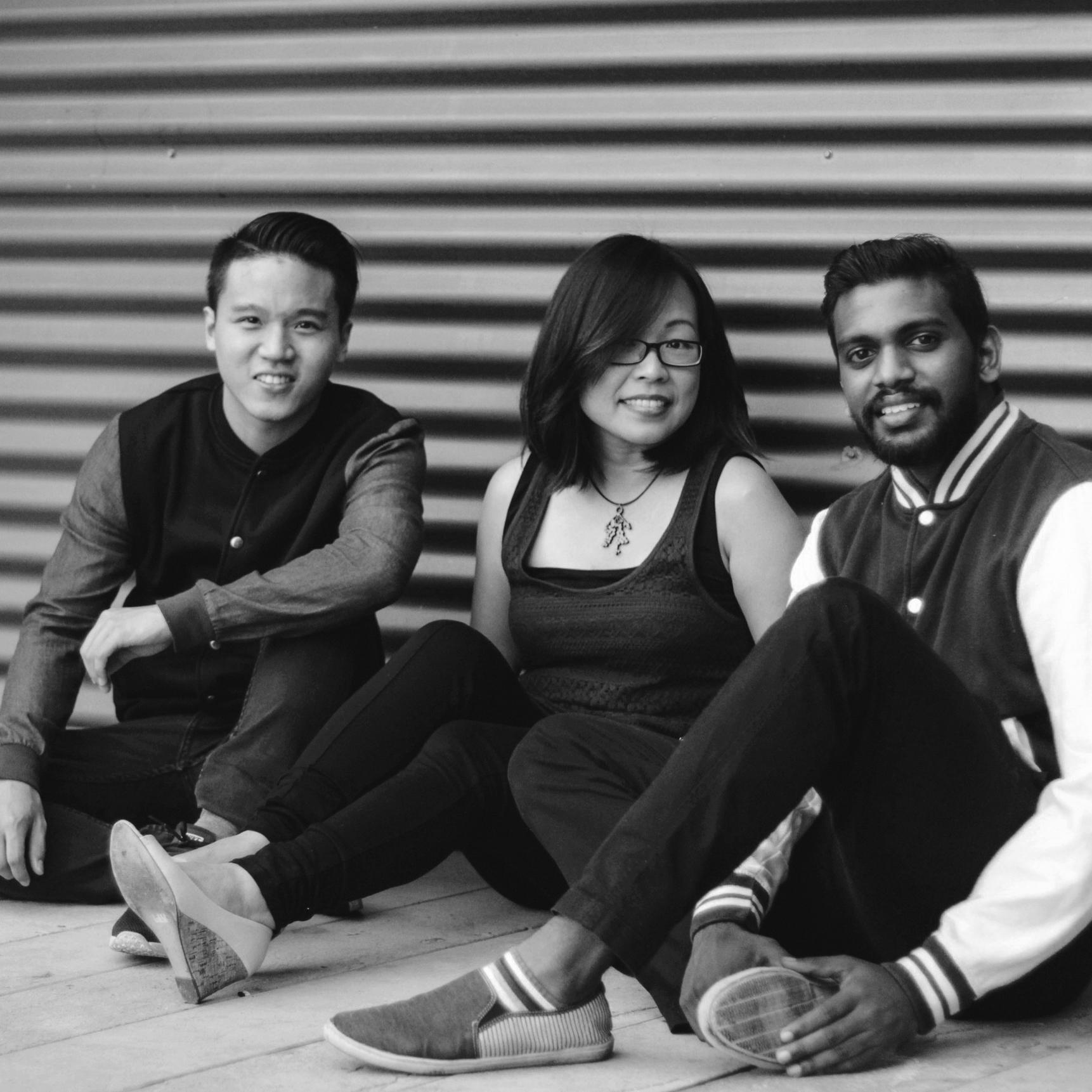 Wini Heron, Paul Kong and Aaron Anand