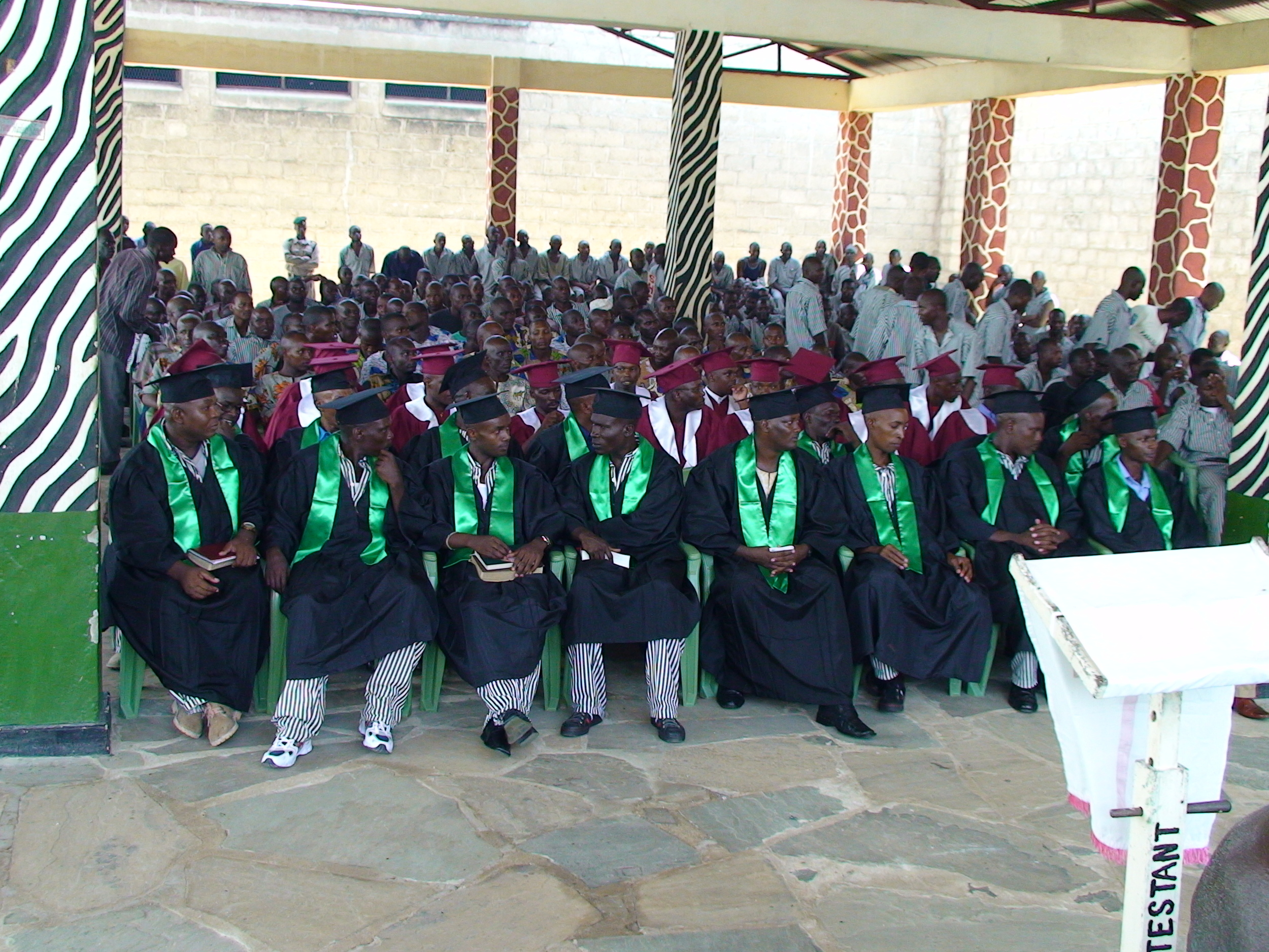 The Industrial Area Correction Facilities' graduation after completing Alpha.