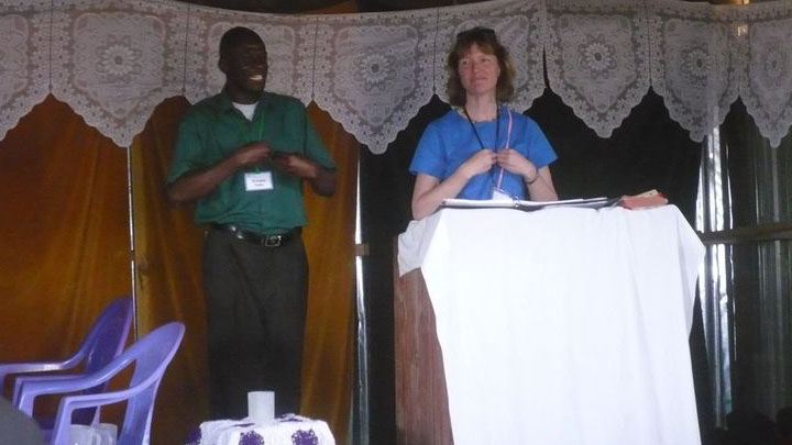 Richard at an Alpha Training in Duka Moja with Cory Zeck from Alpha Canada