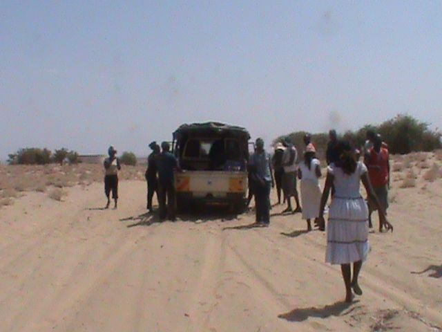 Getting Alpha to Turkana causes challenges because of the poor roads and the extreme temperatures of between 35 - 40 degrees centigrade.