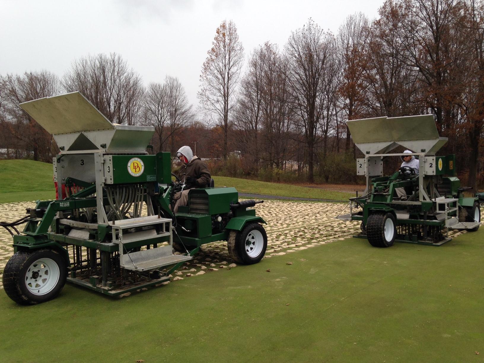 Drill and Fill Golf Greens