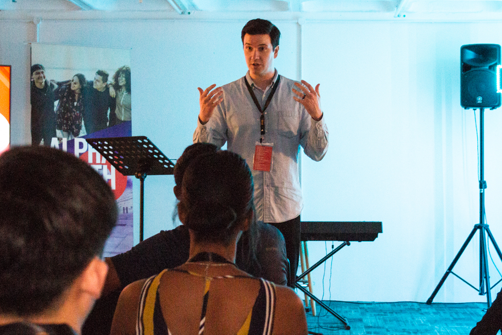 Ben Woodman, one of the main hosts of the Alpha Youth Series (AYS)