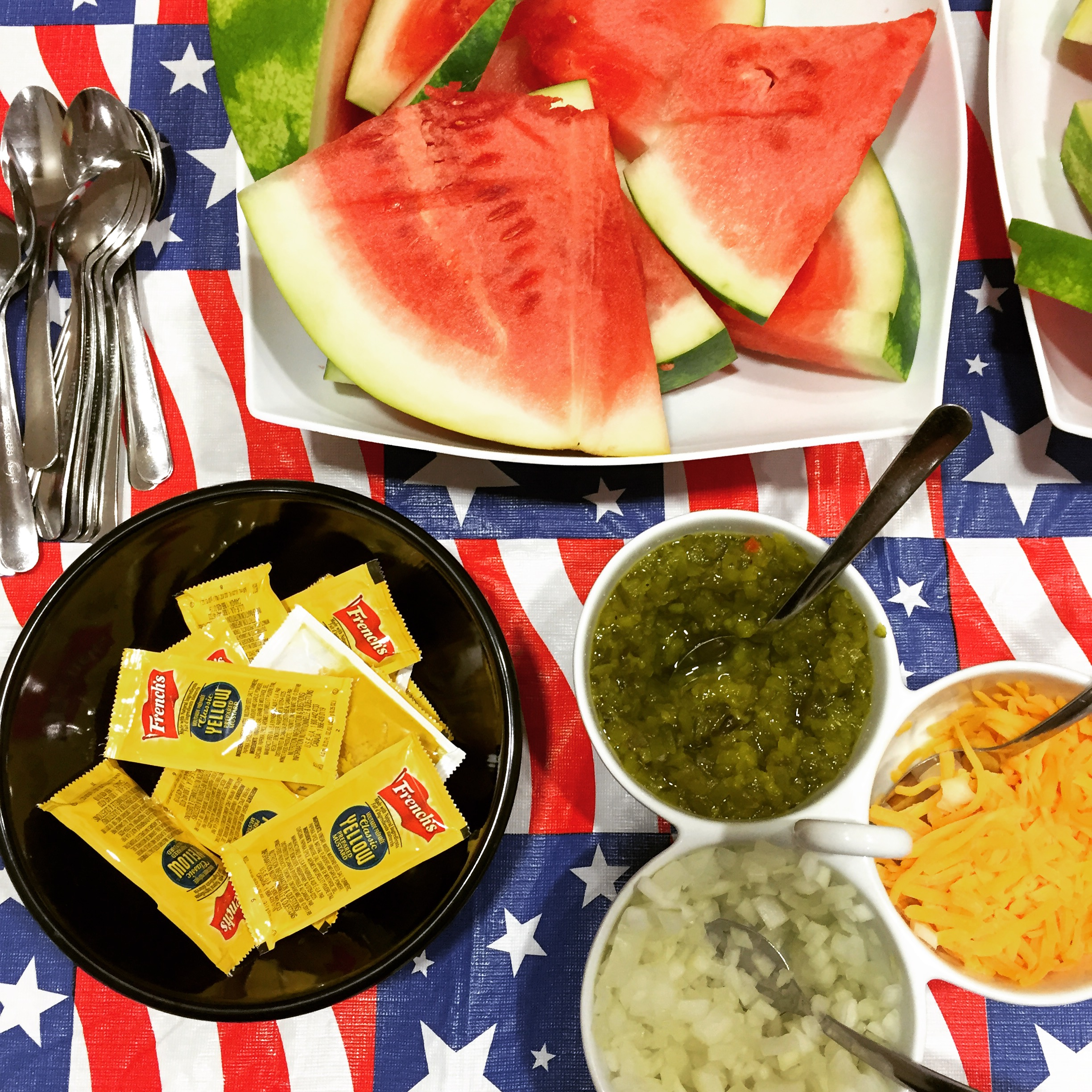 This is a picture from our 4th of July challenge meal at The Renfrew Center