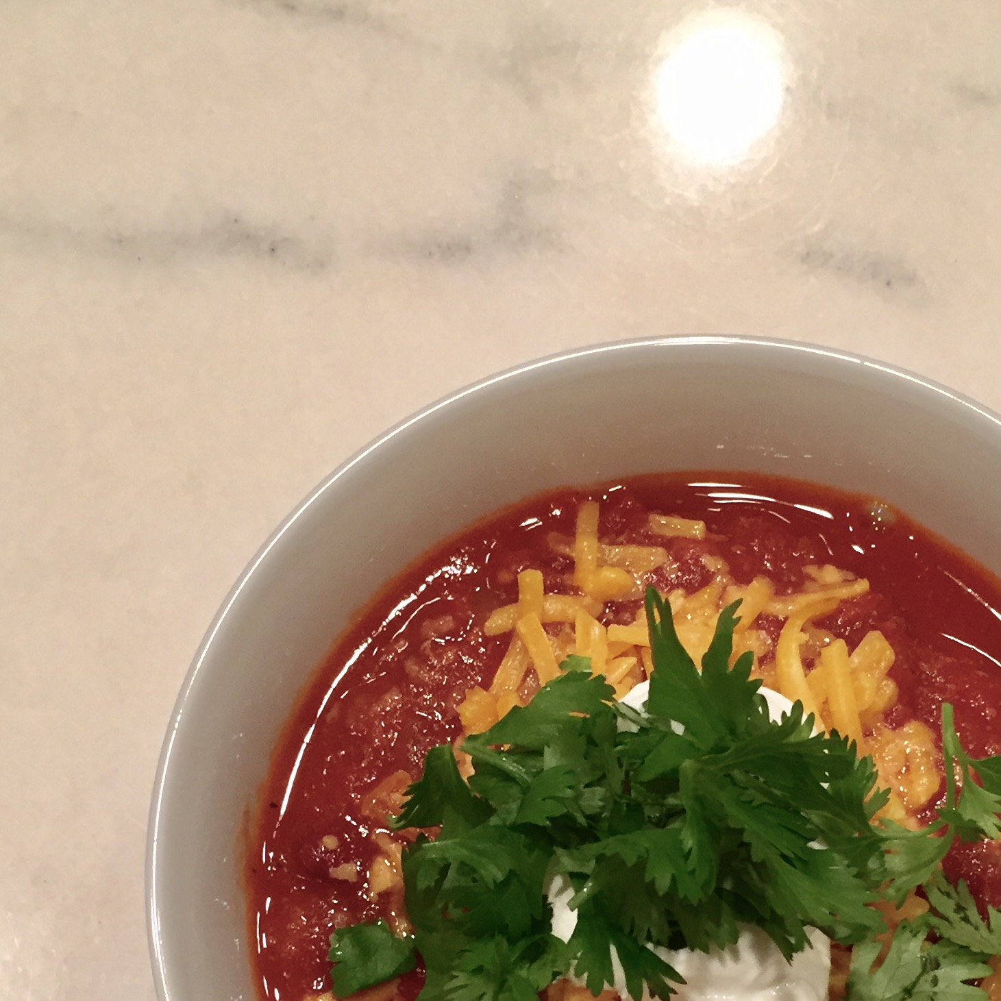 Quick & Easy Week Night Dinner - Venison Chili, Casey Bonano RD, LD, Dallas Nutritional Counseling #dallasnutritionalcounseling #balancedeating #homecooking #quickrecipes #easyrecipe #weeknightrecipe #carbfatpro #quickeasyrecipe
