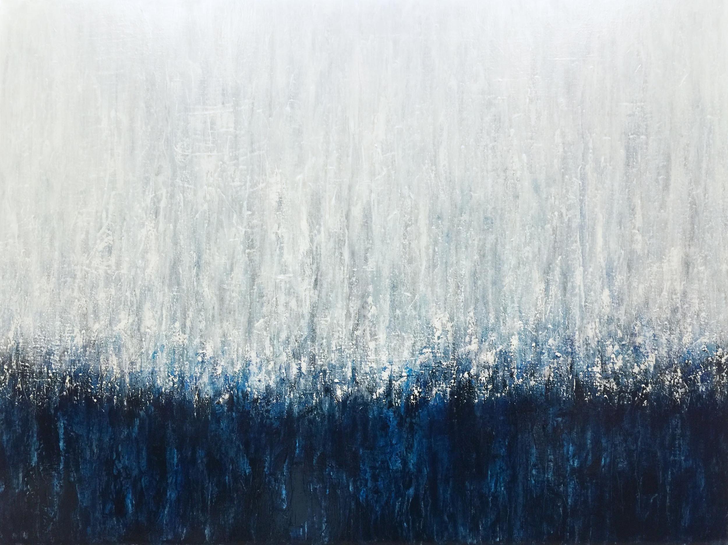 "Meeting Darkness /acrylic on canvas 30""x40""/ Jennifer Neal copyright 2015"