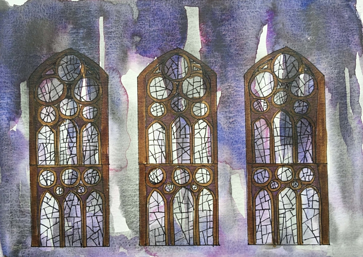 Sagrada Familia sketch ©Jennifer Neal 2017