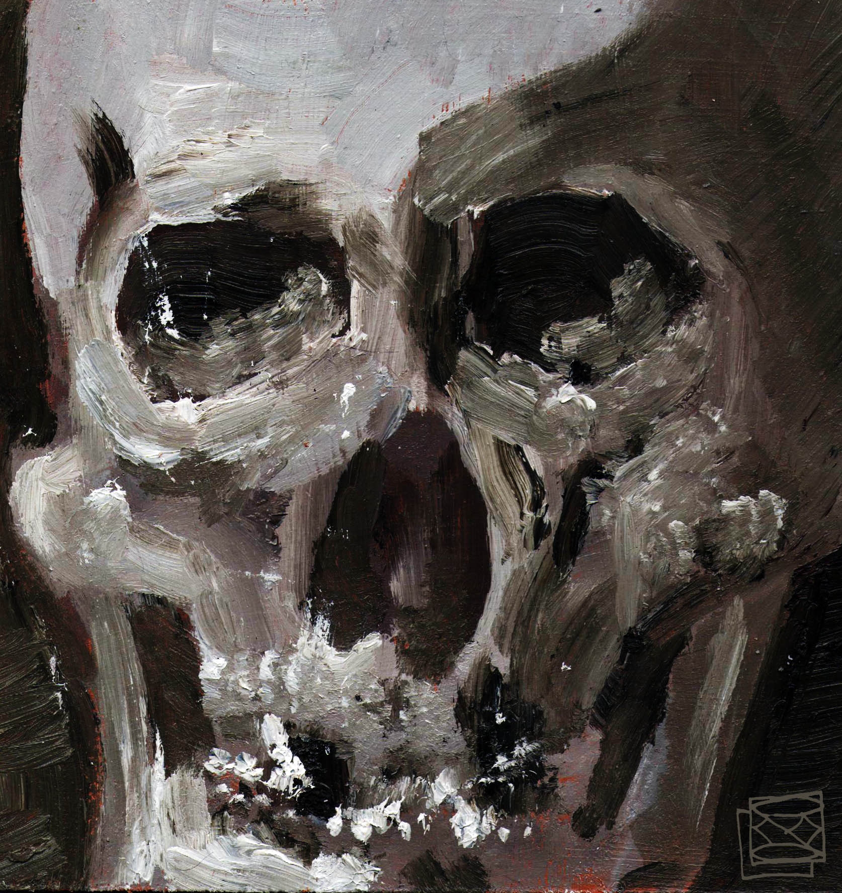 2012. Oil on Board. 6''x6''.
