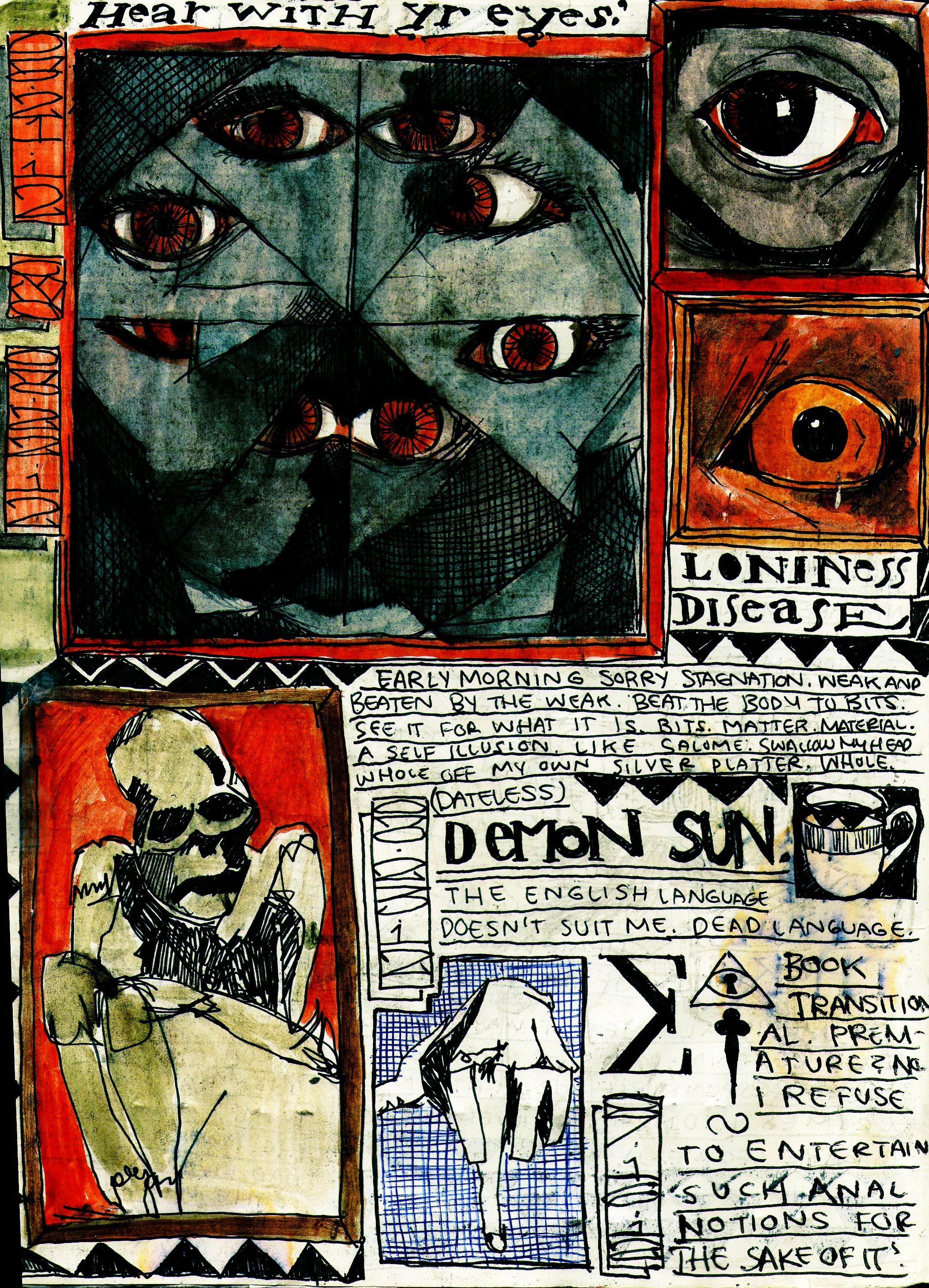 Sketchbook Journal #12: (RE)Immolation in Pagan Winter: page 2