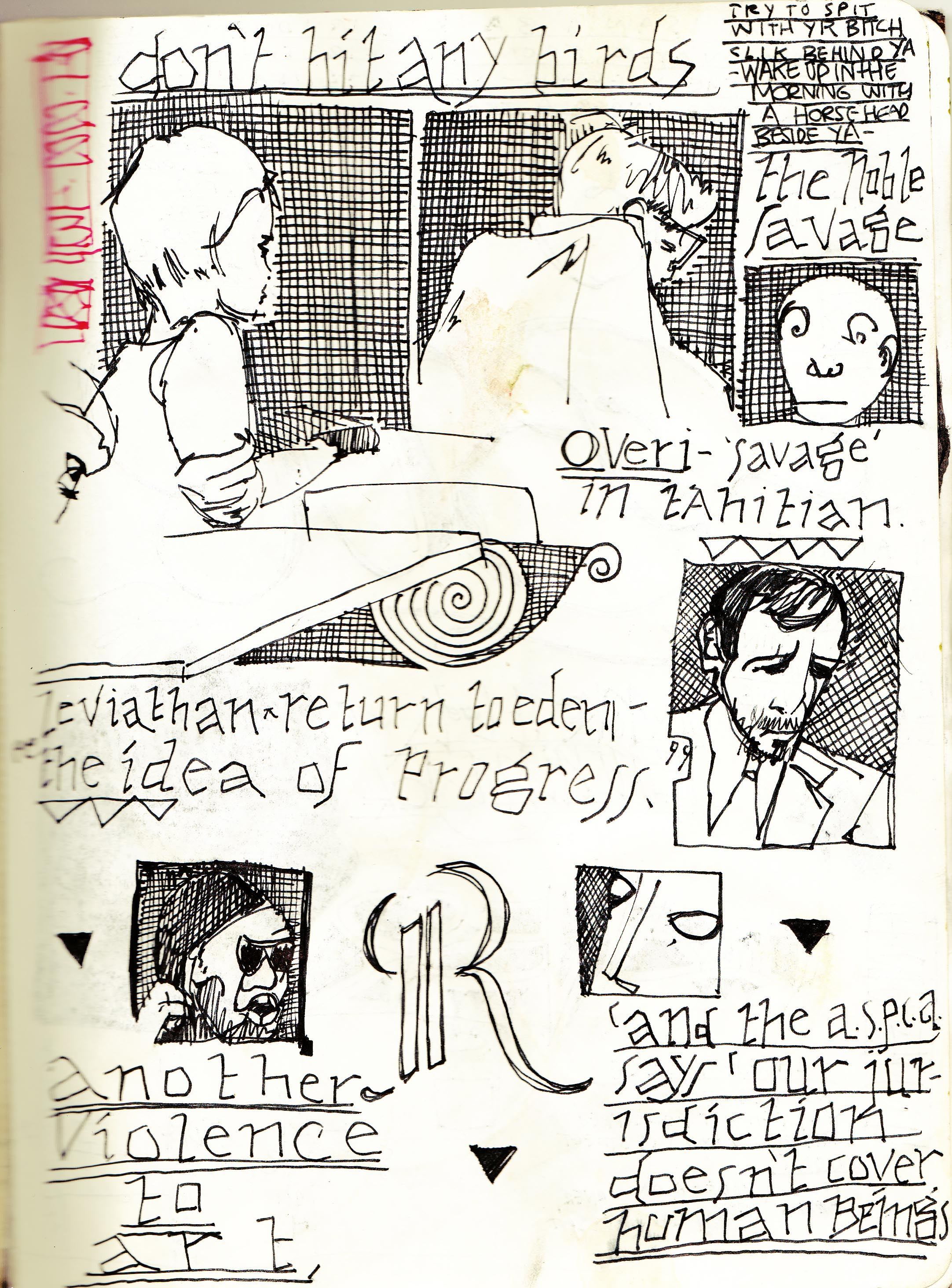Sketchbook Journal #12: (RE)Immolation in Pagan Winter: page 105