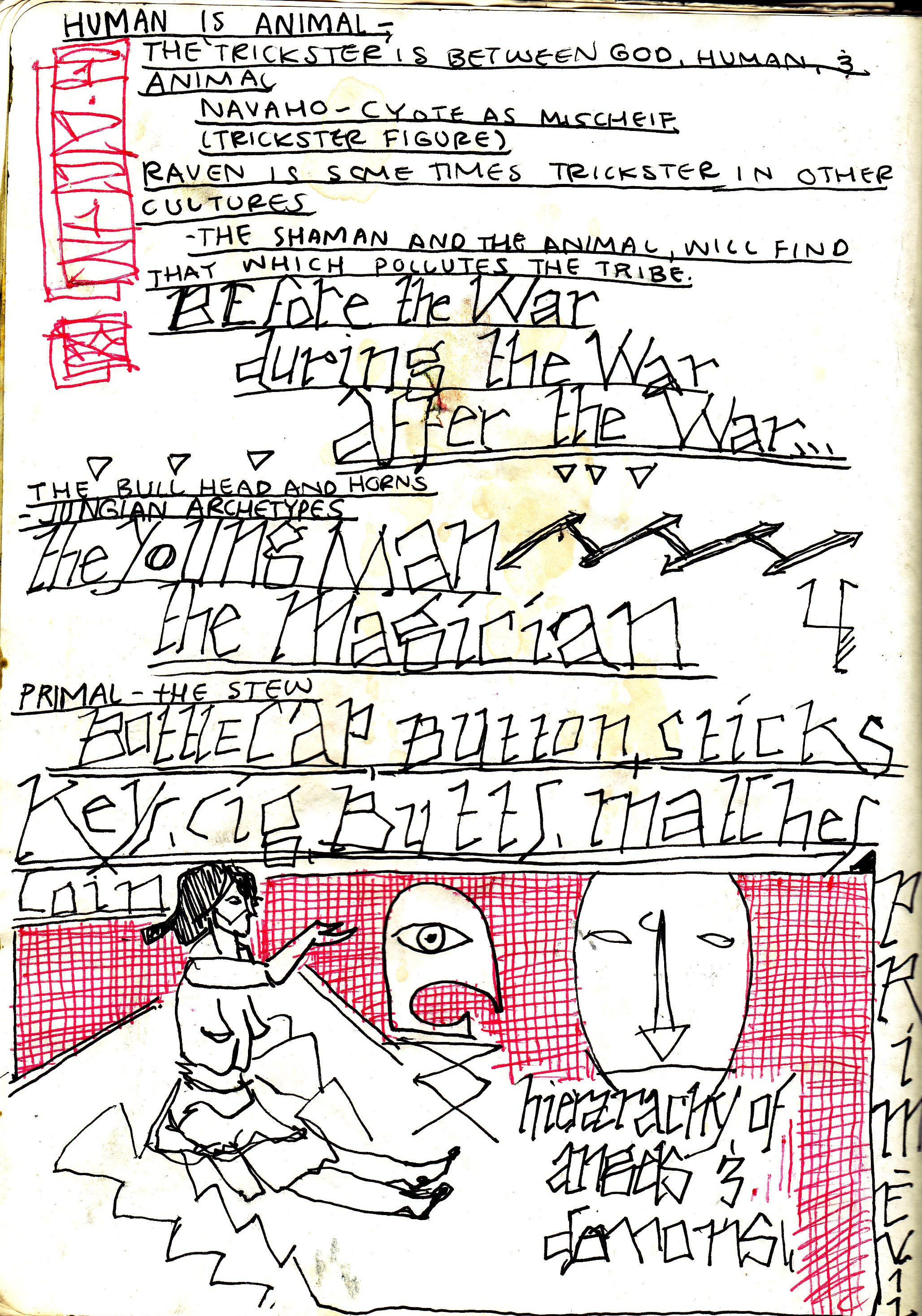 Sketchbook Journal #12: (RE)Immolation in Pagan Winter: page 104