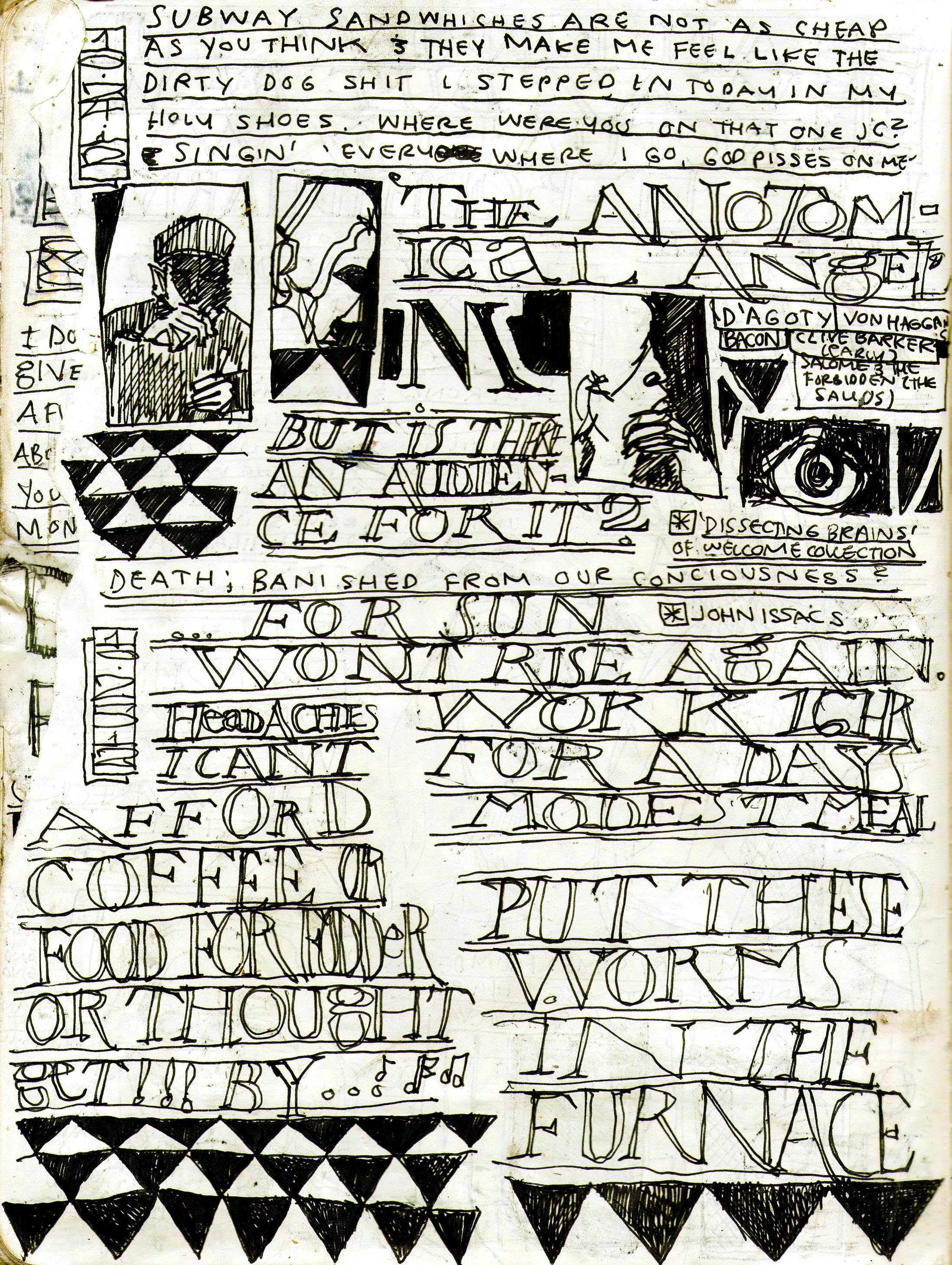 Sketchbook Journal #12: (RE)Immolation in Pagan Winter: page 12