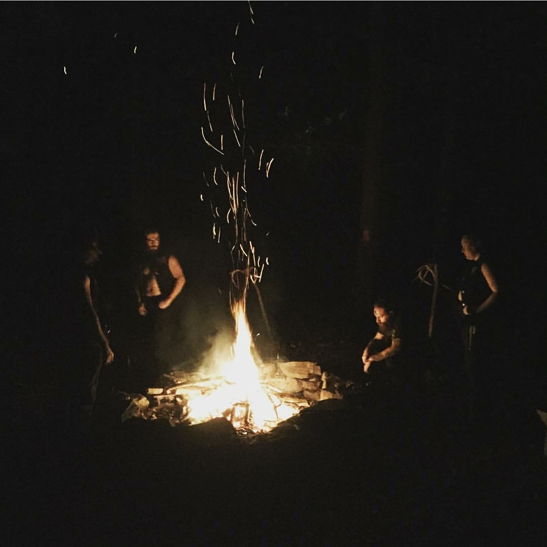 Friday evening fire and ritual over some new and freshly carved runes.