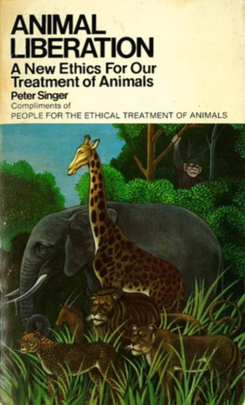 This was the edition of Animal Liberation I found a copy of in a thrift store when I was a teenager.