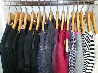 Live With Less clothing declutter limited wardrobe
