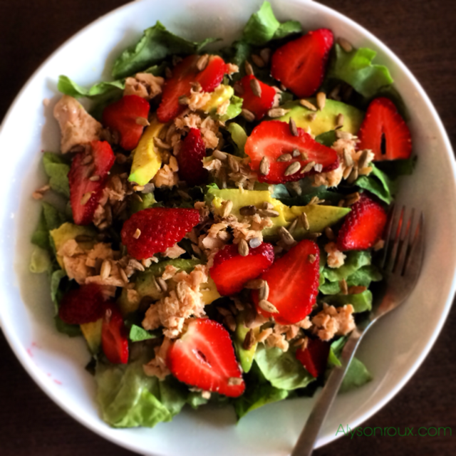 This Salmon and Strawberry Salad with Avocado is always a crowd-pleaser!