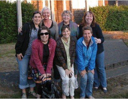 Clockwise from upper left: Parna Mehrbani, Angela Davis, Joan Schrouder, Shelia January, Mary Scott Huff, Anne Berk, JC Briar