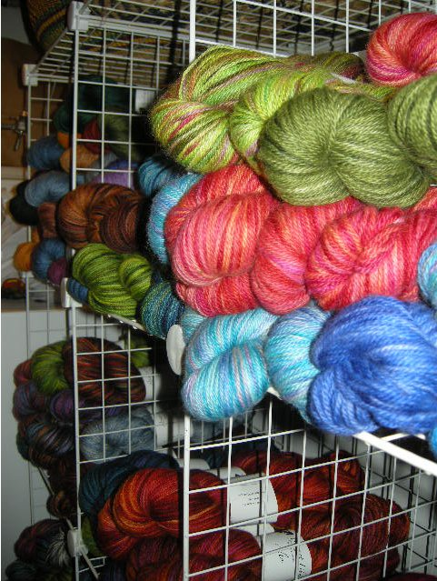 Some of the pretty wares in the secret Abstract Fiber laboratory