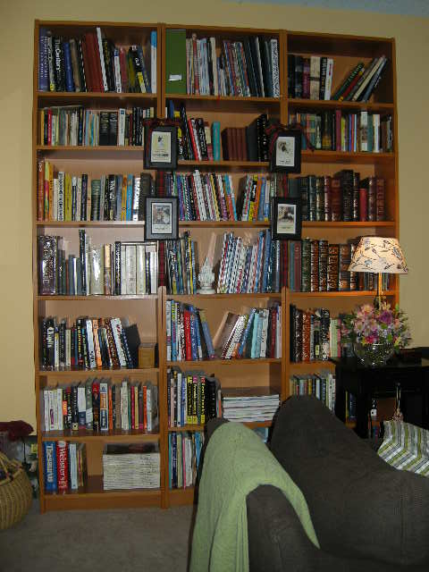 All the knitting books are grouped together by subject. And on the same floor.  Win.