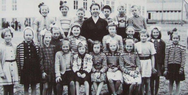 Norwegian schoolchildren sporting their Fana; practically a uniform.