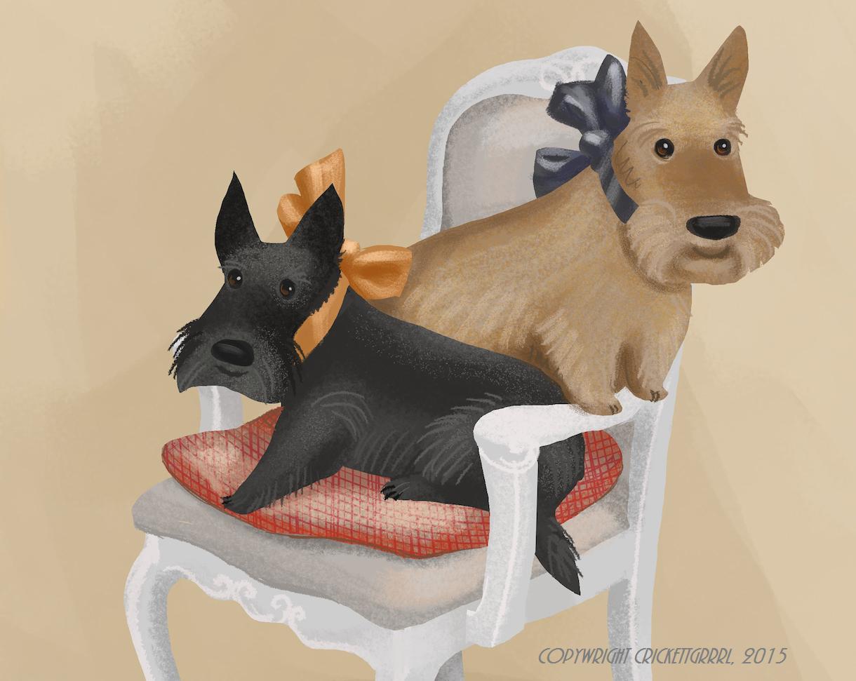 """""""Mary Scott Huff's Scottish Terriers"""" by Va"""