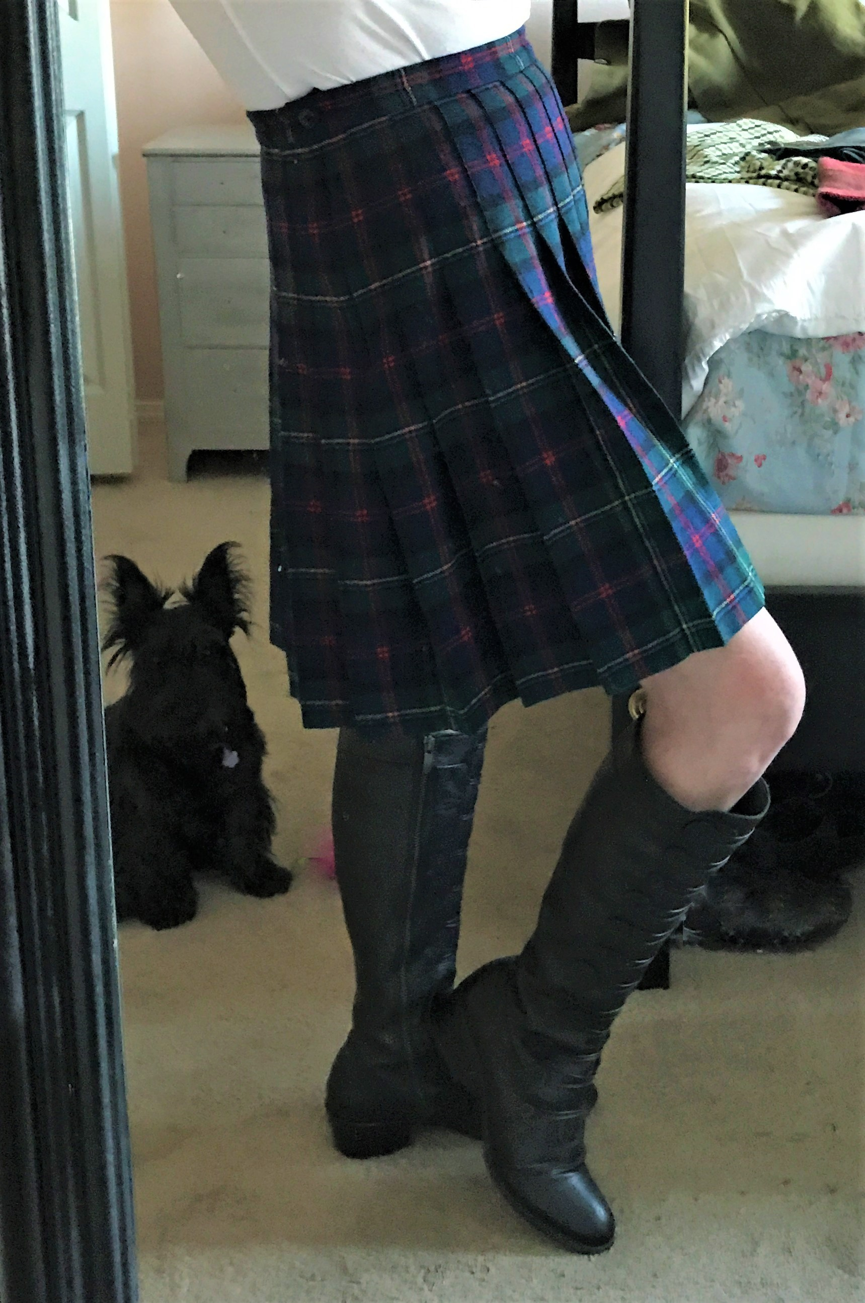 Ruby approves of all things tartan