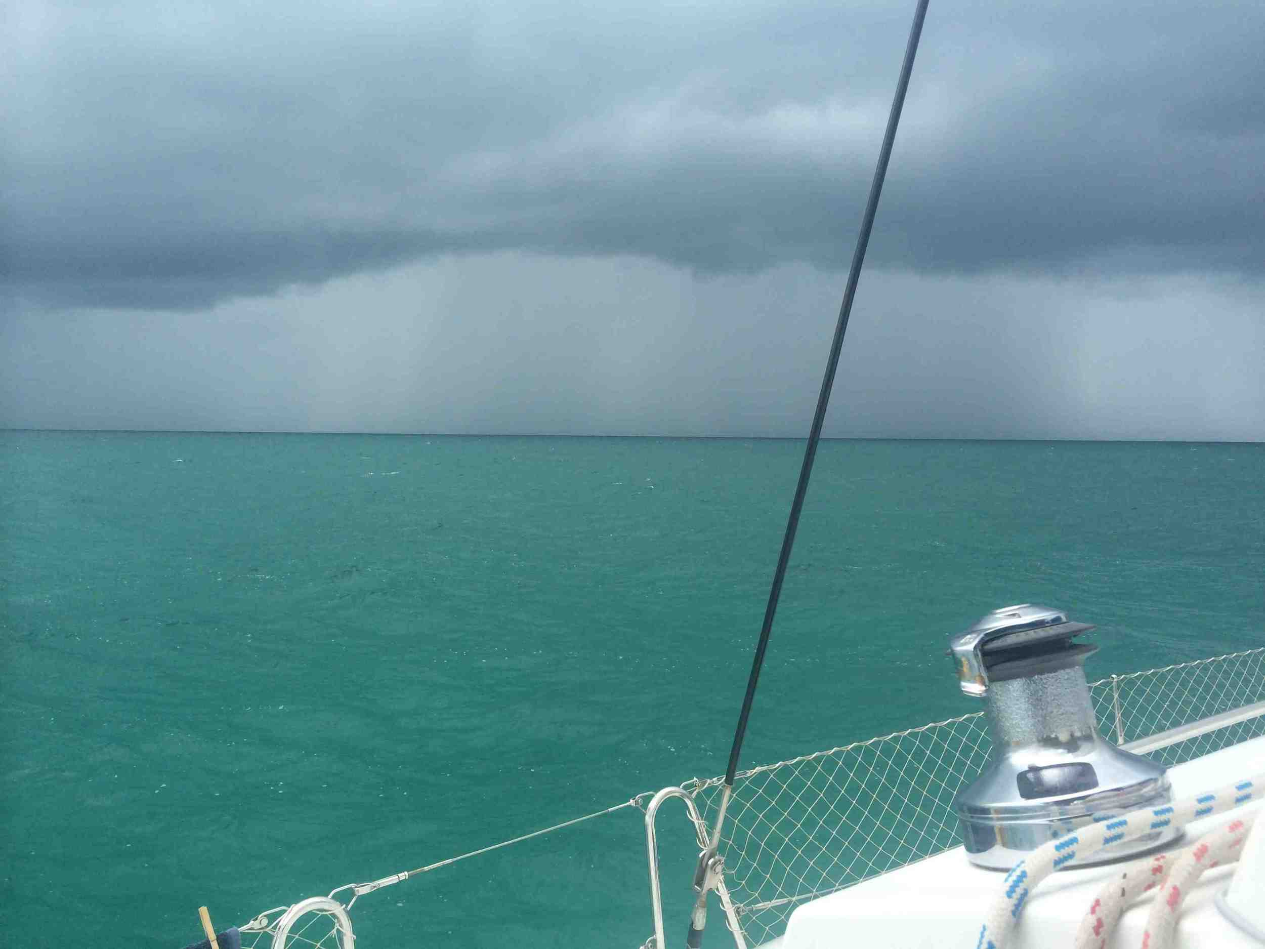 The squall between us and Nassau