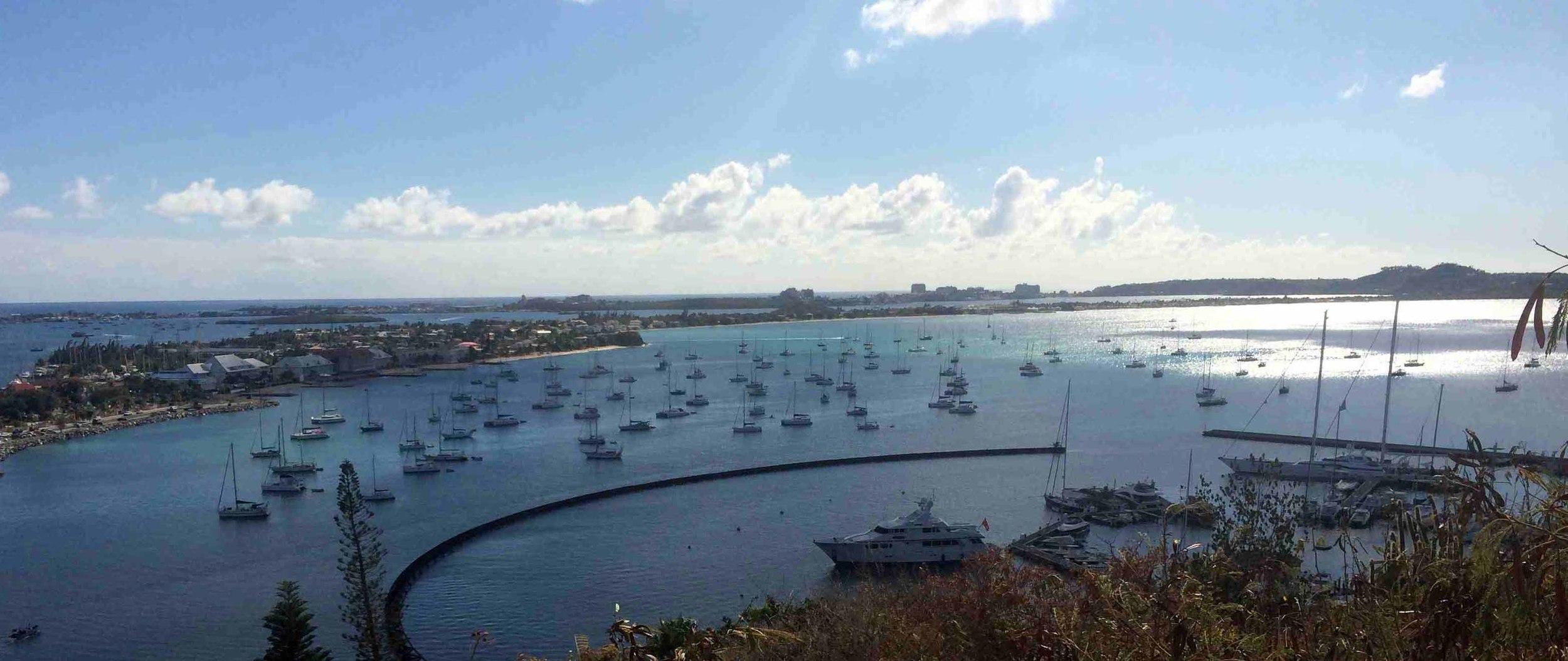 Overlooking Marigot Bay, St. Martin
