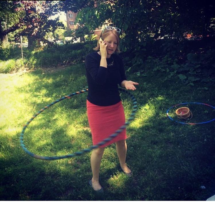 Rare photo of me hula hoop multi-tasking circa 2015   photo credit: Wade Foster